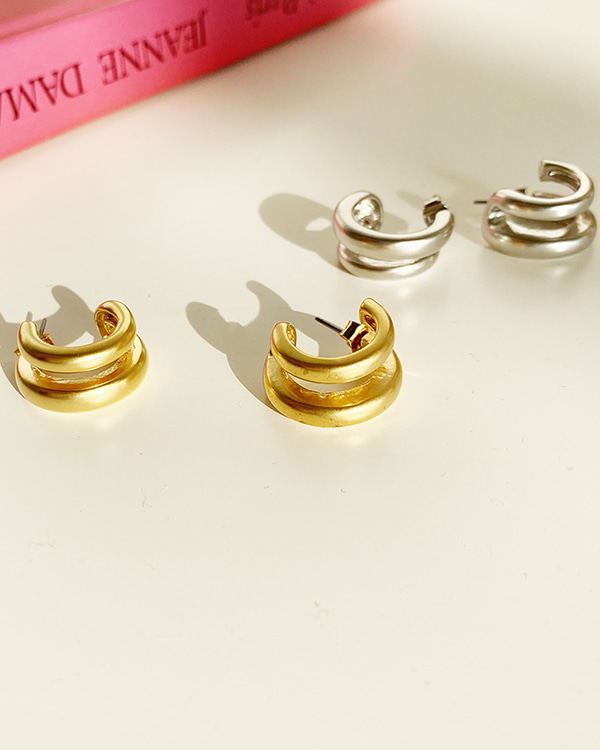 ring metal earring